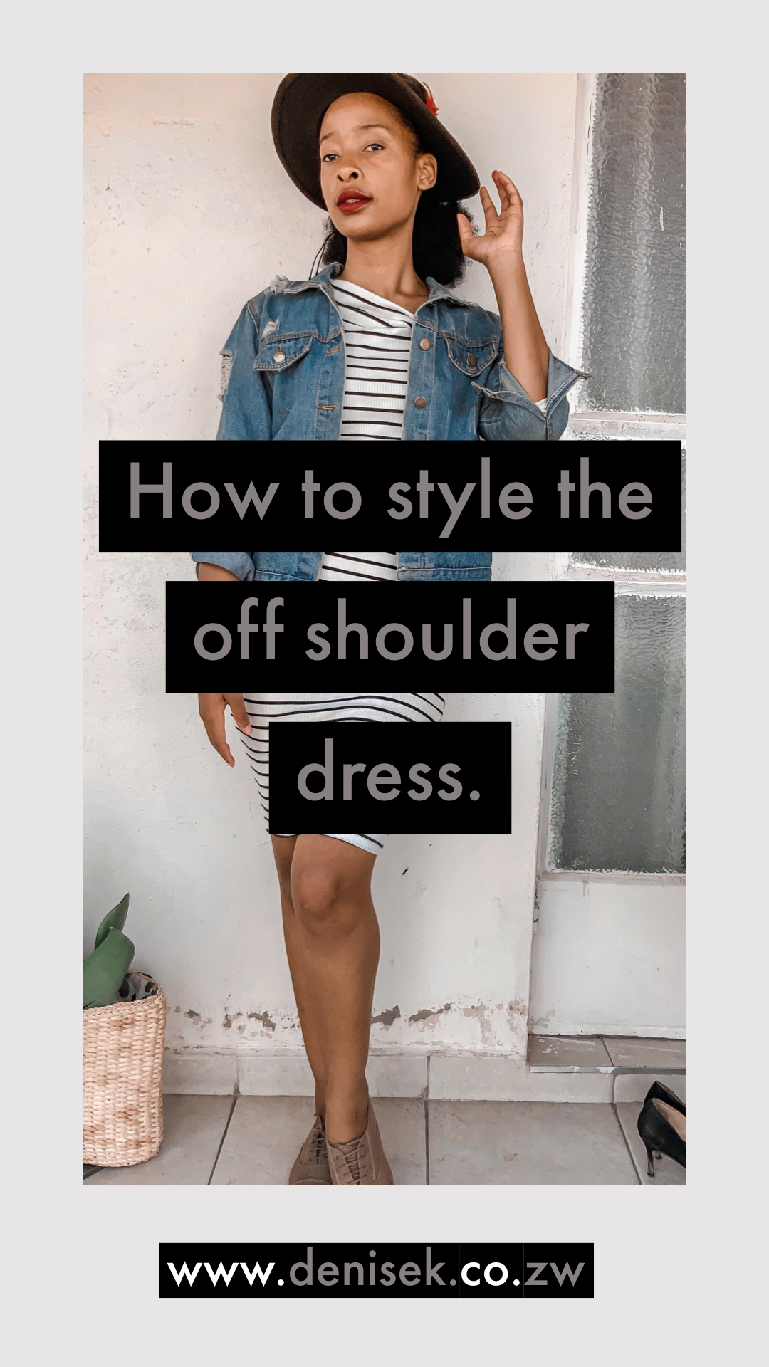 How to style the Off shoulder Dress