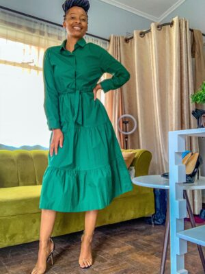 Green dress for sale online in harare